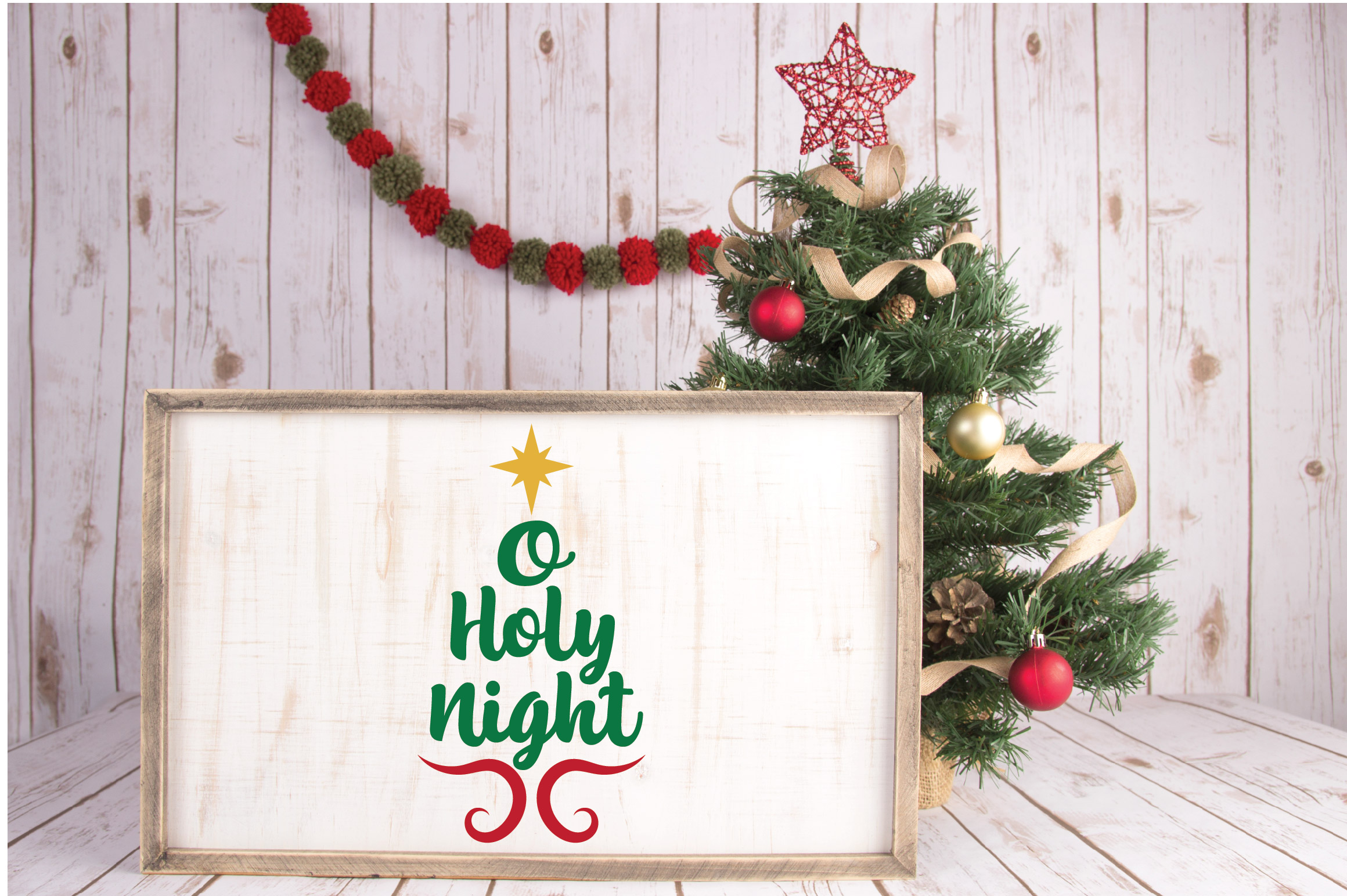O Holy Night SVG Cut File - Christmas SVG - DXF - PNG - EPS example image 6