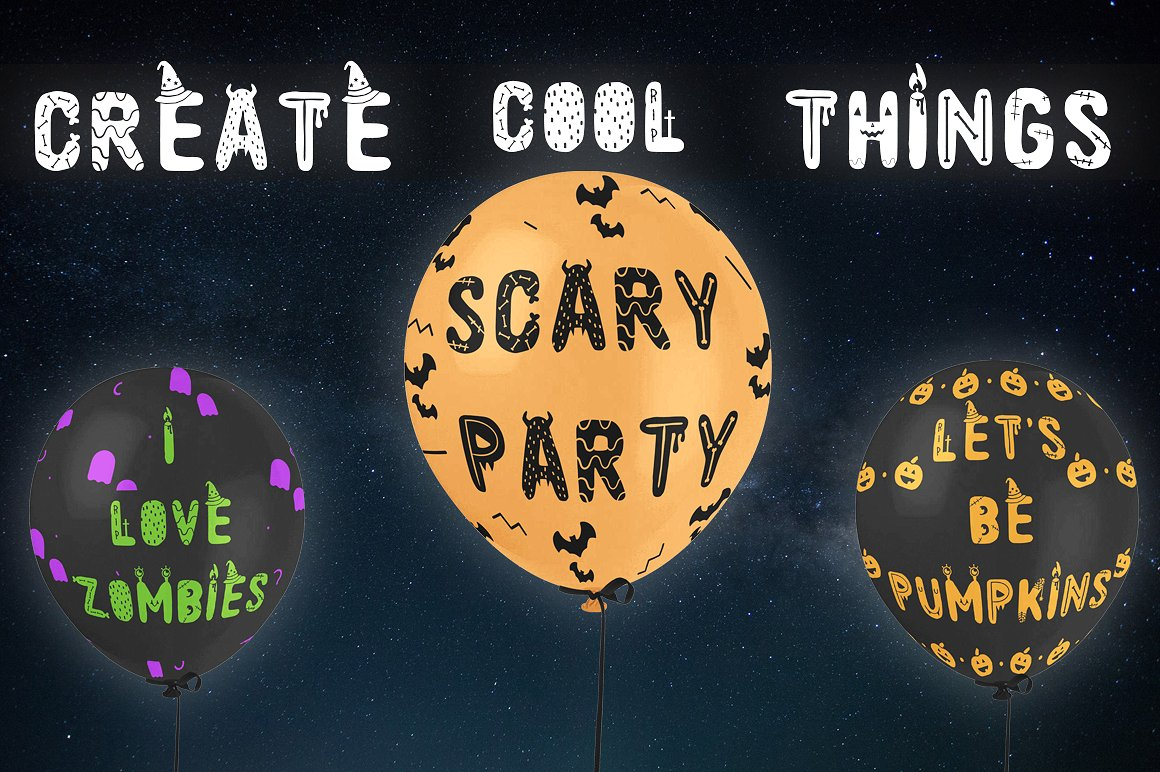 Spooky font with EXTRAS! example image 4