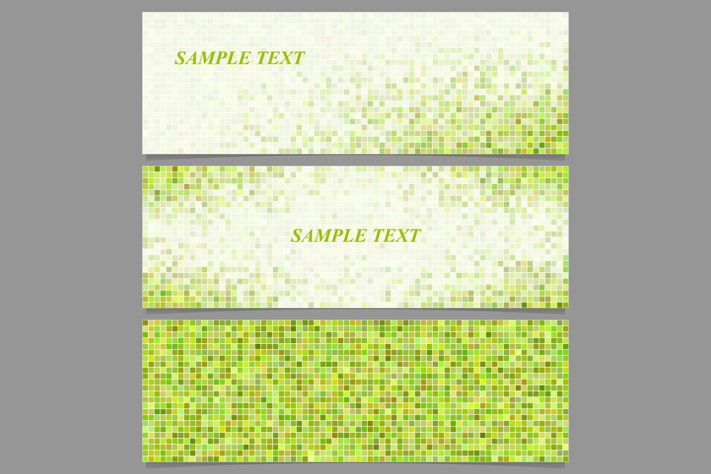 90 mosaic banner template designs (AI, EPS, JPG 5000x5000) example image 3