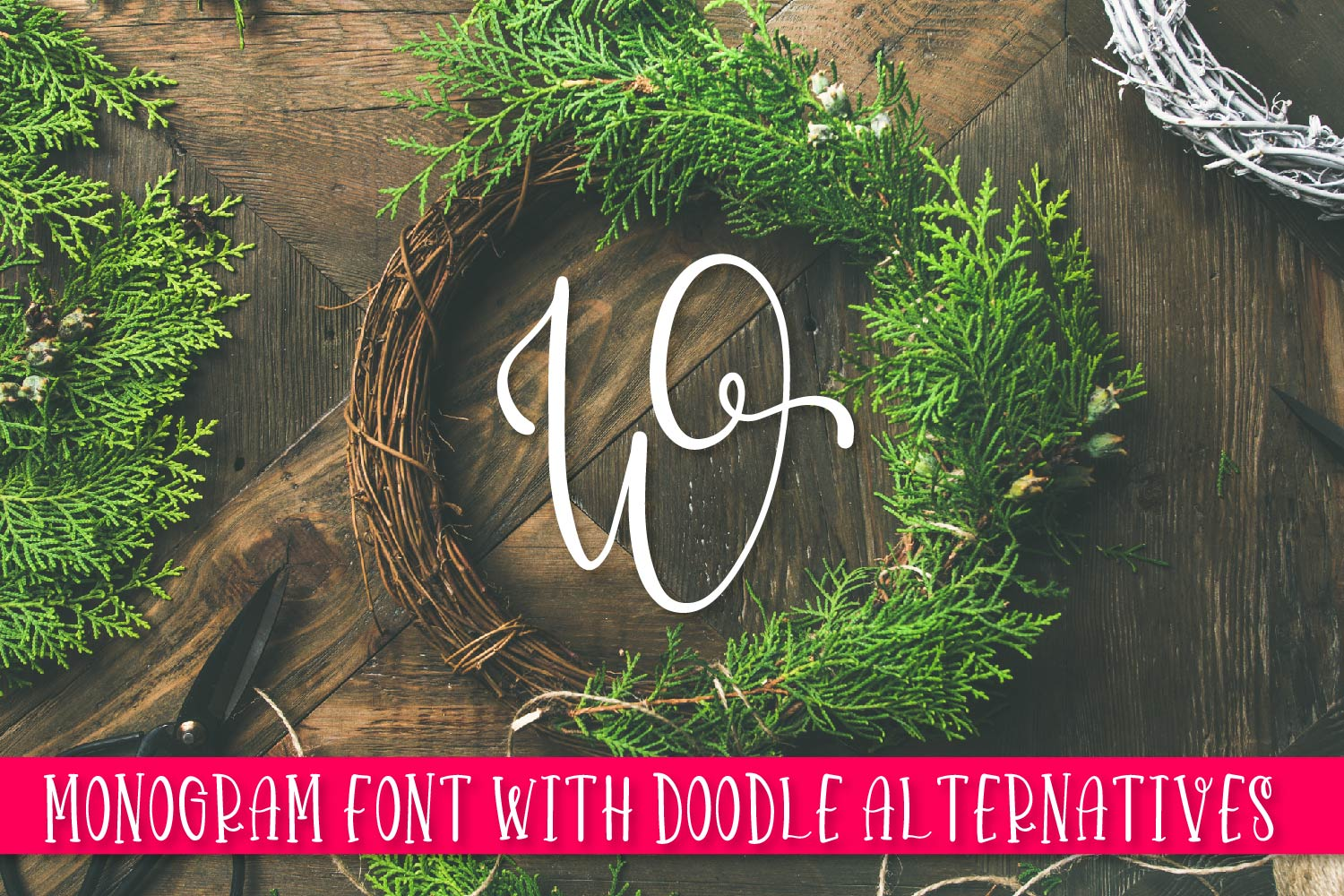 Doodlegram - Monogram Font With Doodle Alternatives example image 1