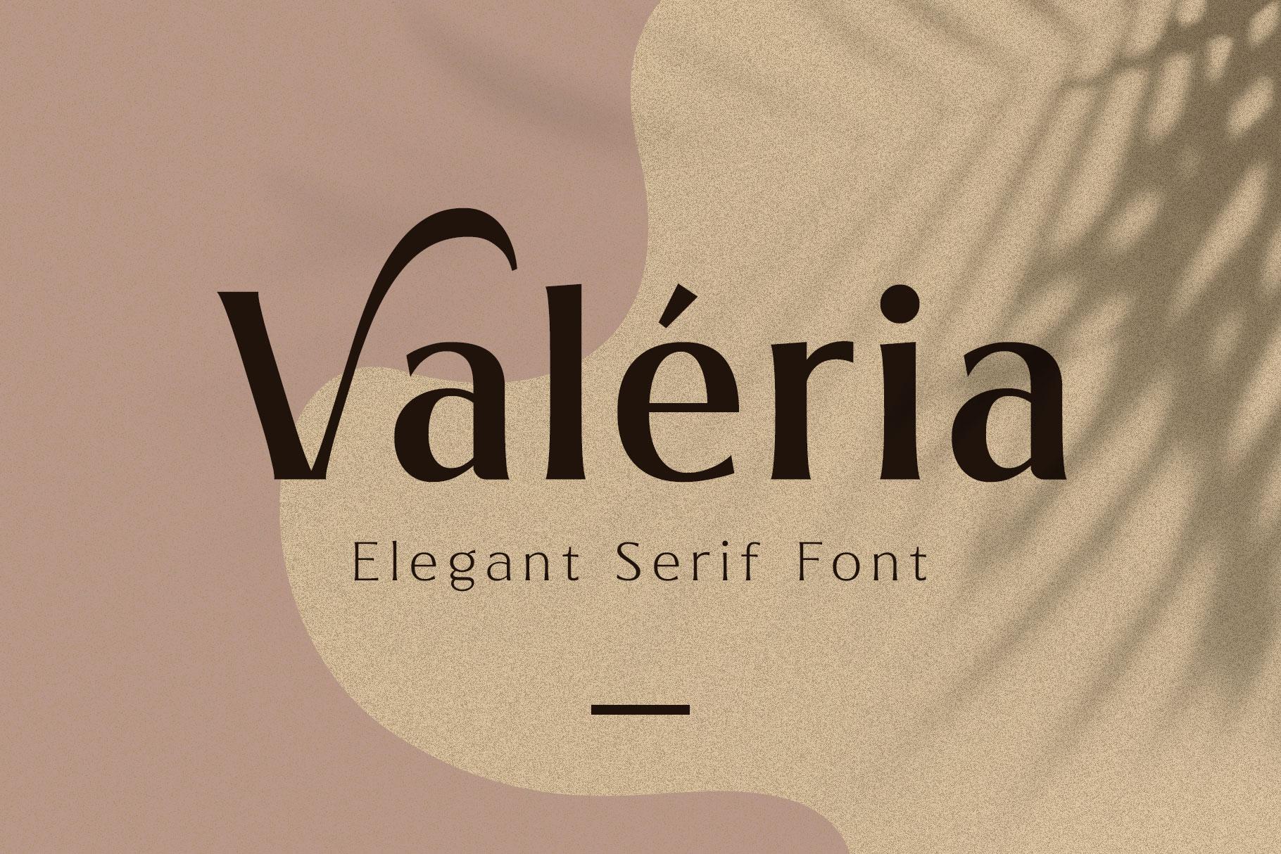 Valeria - Elegant Serif example image 1
