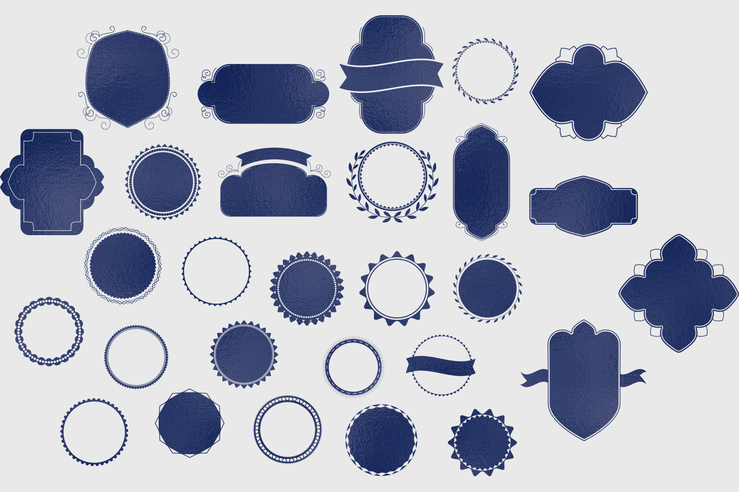 Badges & Frames SVG Cut files - 30 items example image 2