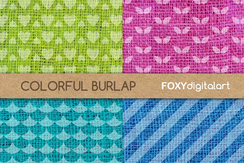 Digital paper burlap linen jute sackcloth canvas texture example image 2