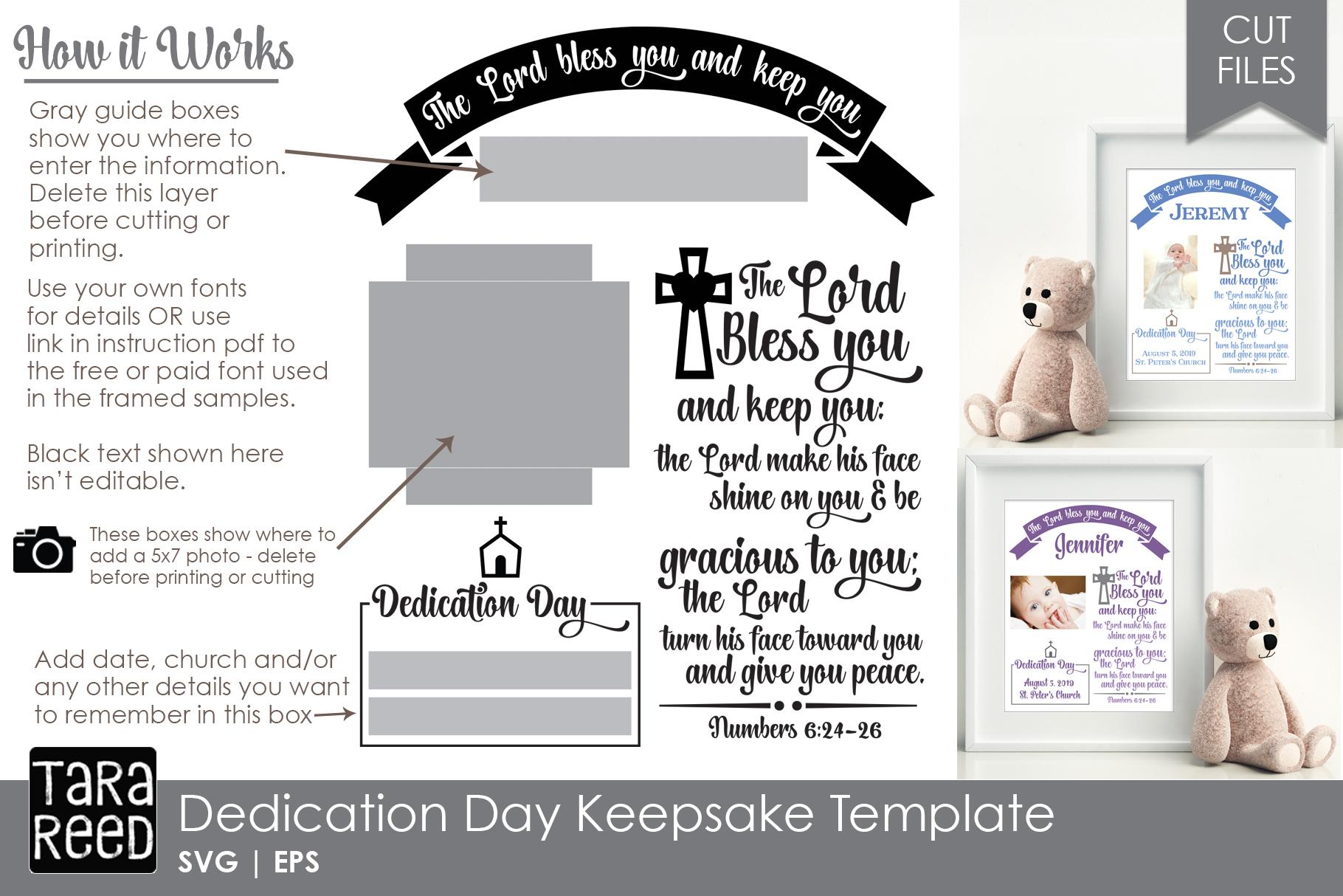 Personalized Dedication Day Keepsake Template example image 2