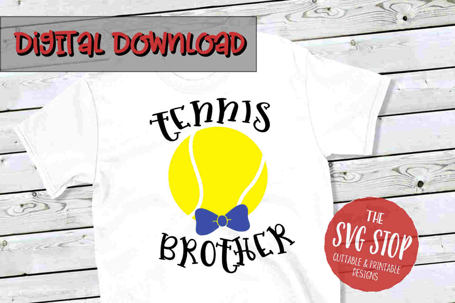 Tennis Brother SVG PNG DXF example image 1