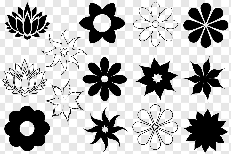 Flower SVG Bundle - Flower Clip Art - Flower Silhouettes example image 2