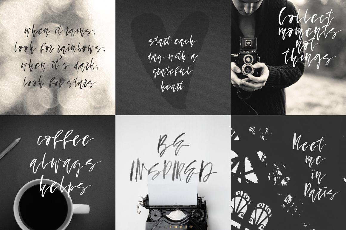 Fallen Angel - calligraphic font example image 4