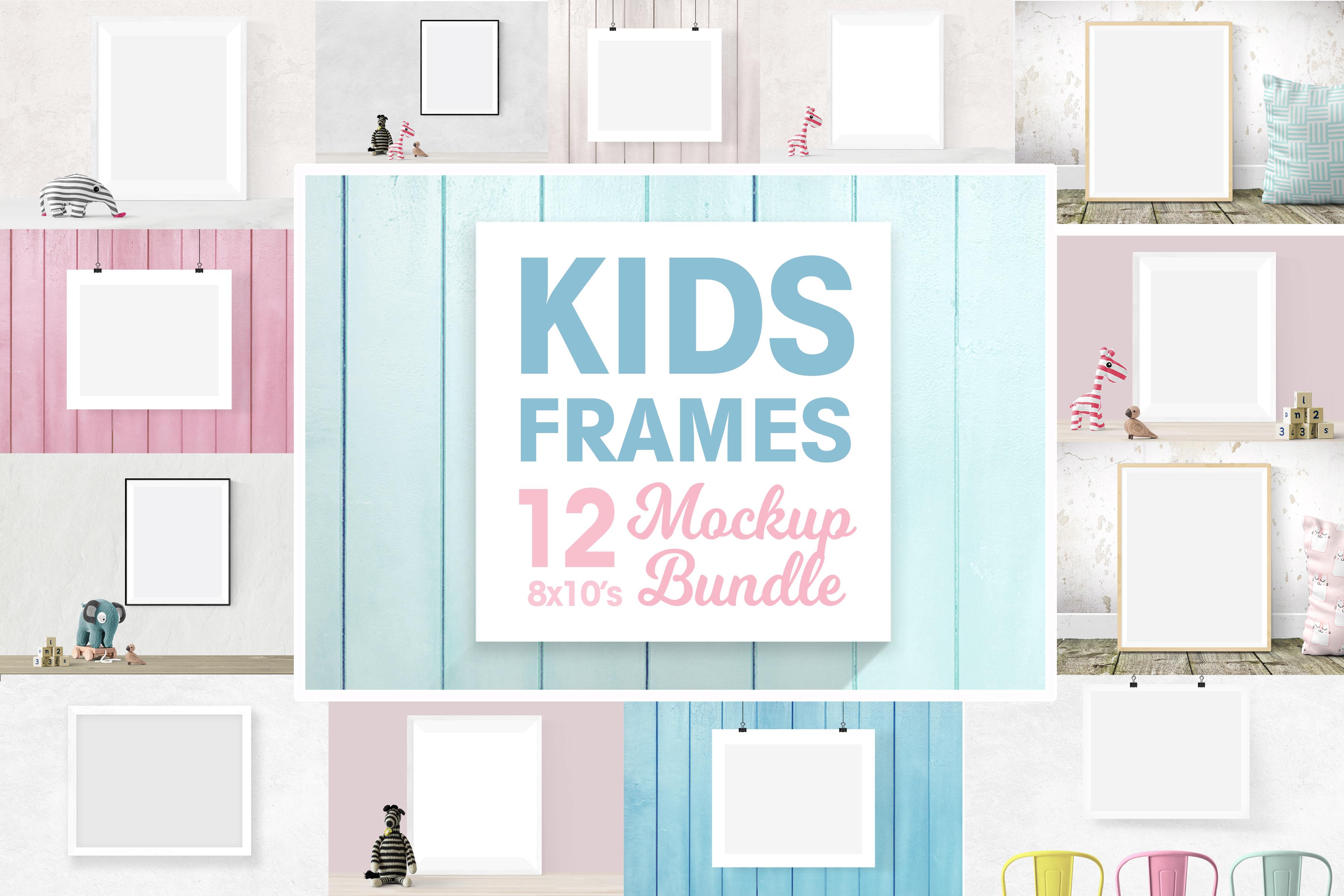 Kids frame mockup 8x10 bundle   nursery frames example image 1