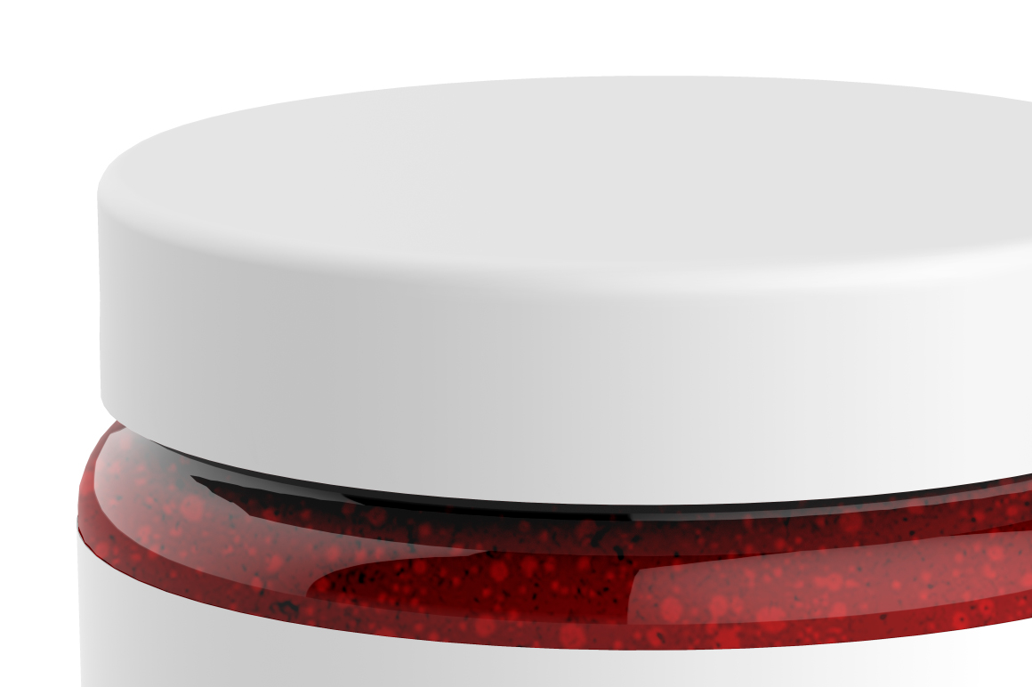 Clear Glass Jar with Jam Mockup example image 5