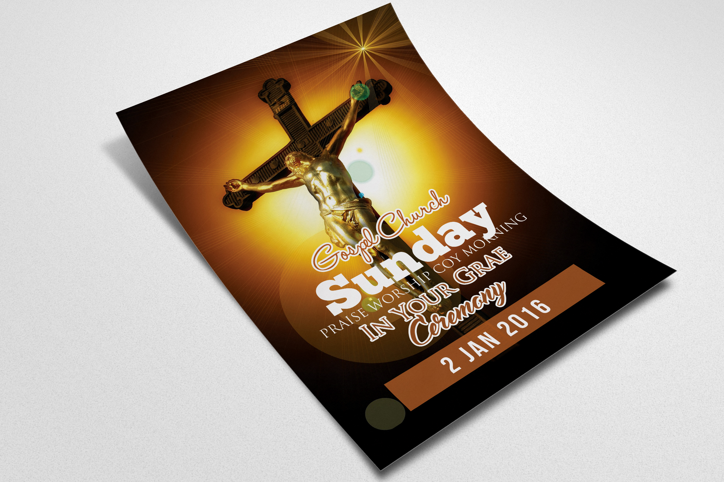 Cross Day Church Flyer Template example image 2