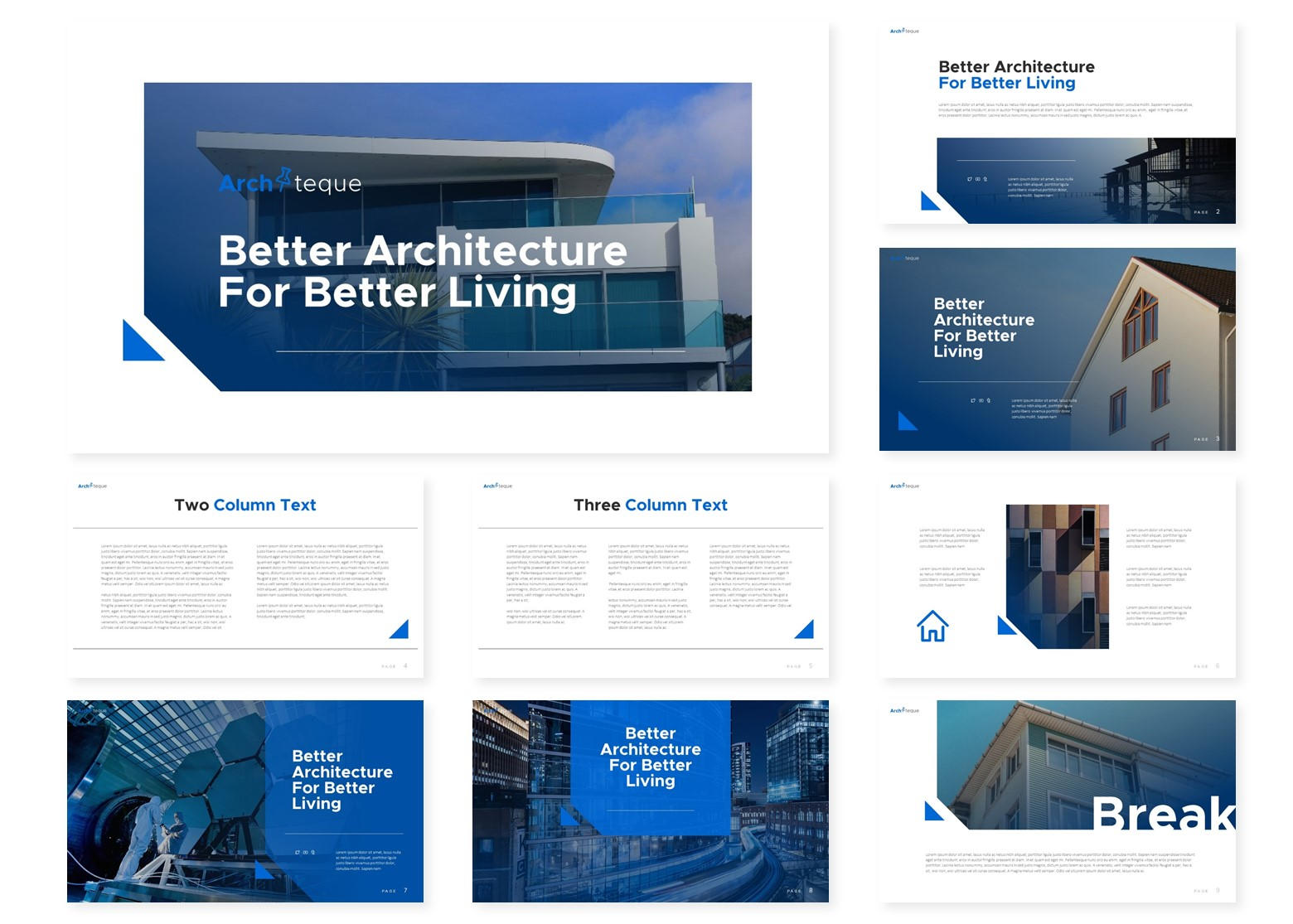 Architeque | Powerpoint, Keynote, GoogleSlides Template example image 4