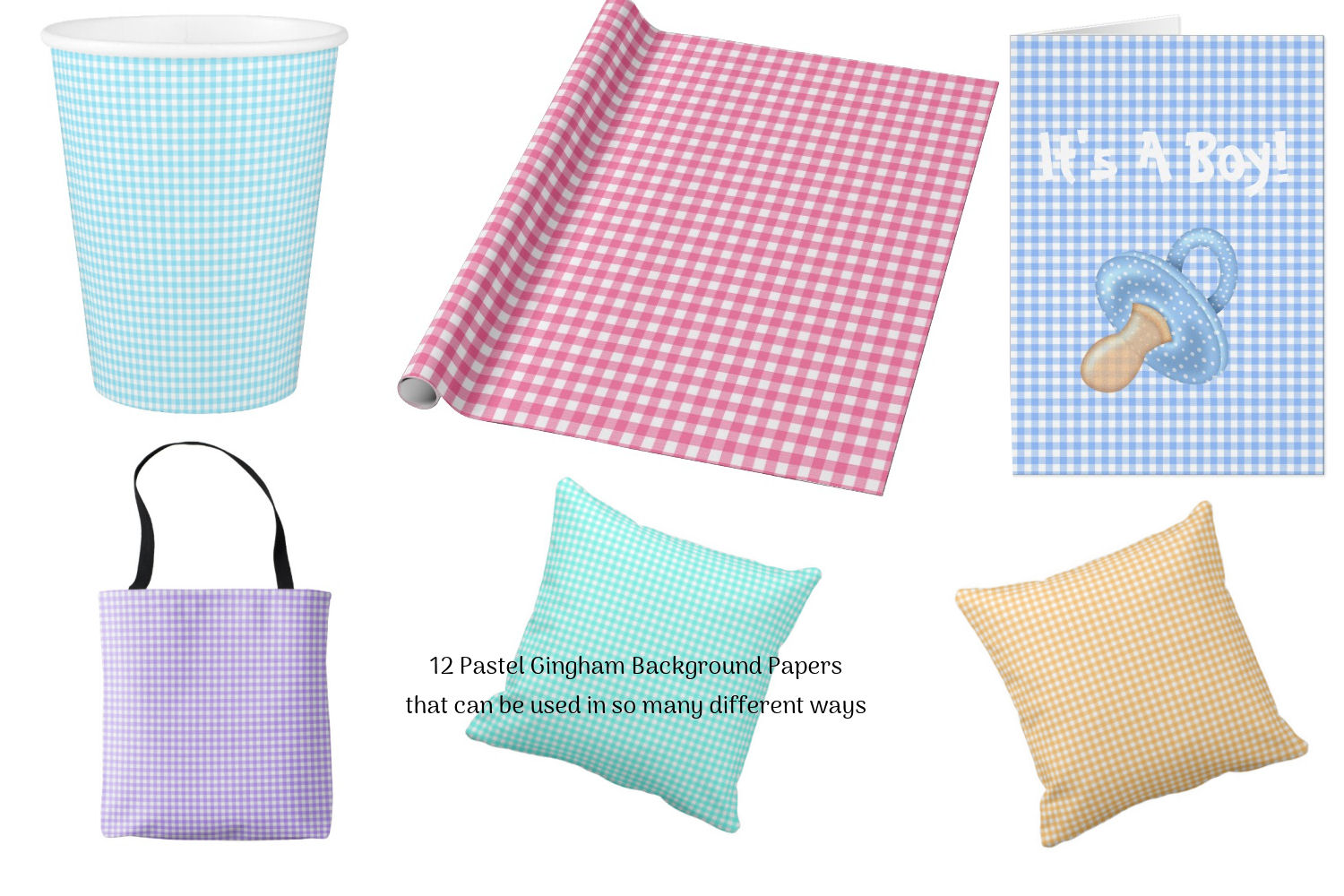 Gingham Background Papers example image 3