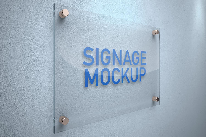 Signage Board Mockup