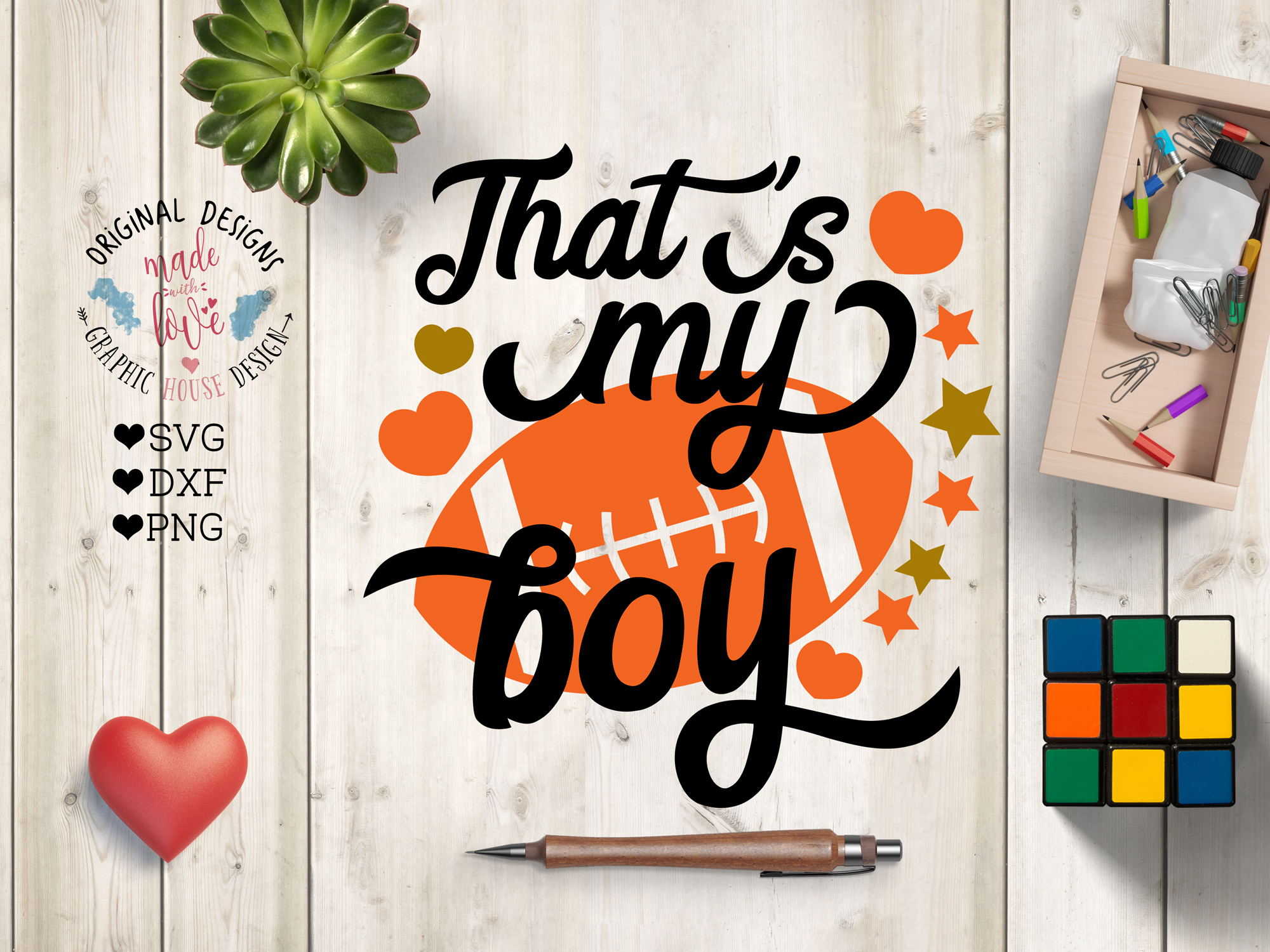 That's my Boy American Football Cut File example image 1