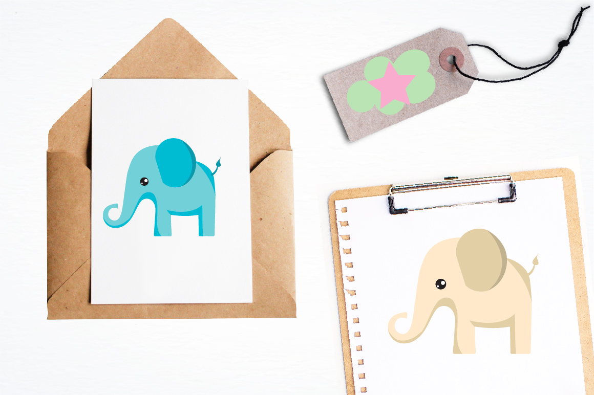 Bunting and elephants graphics and illustrations example image 4