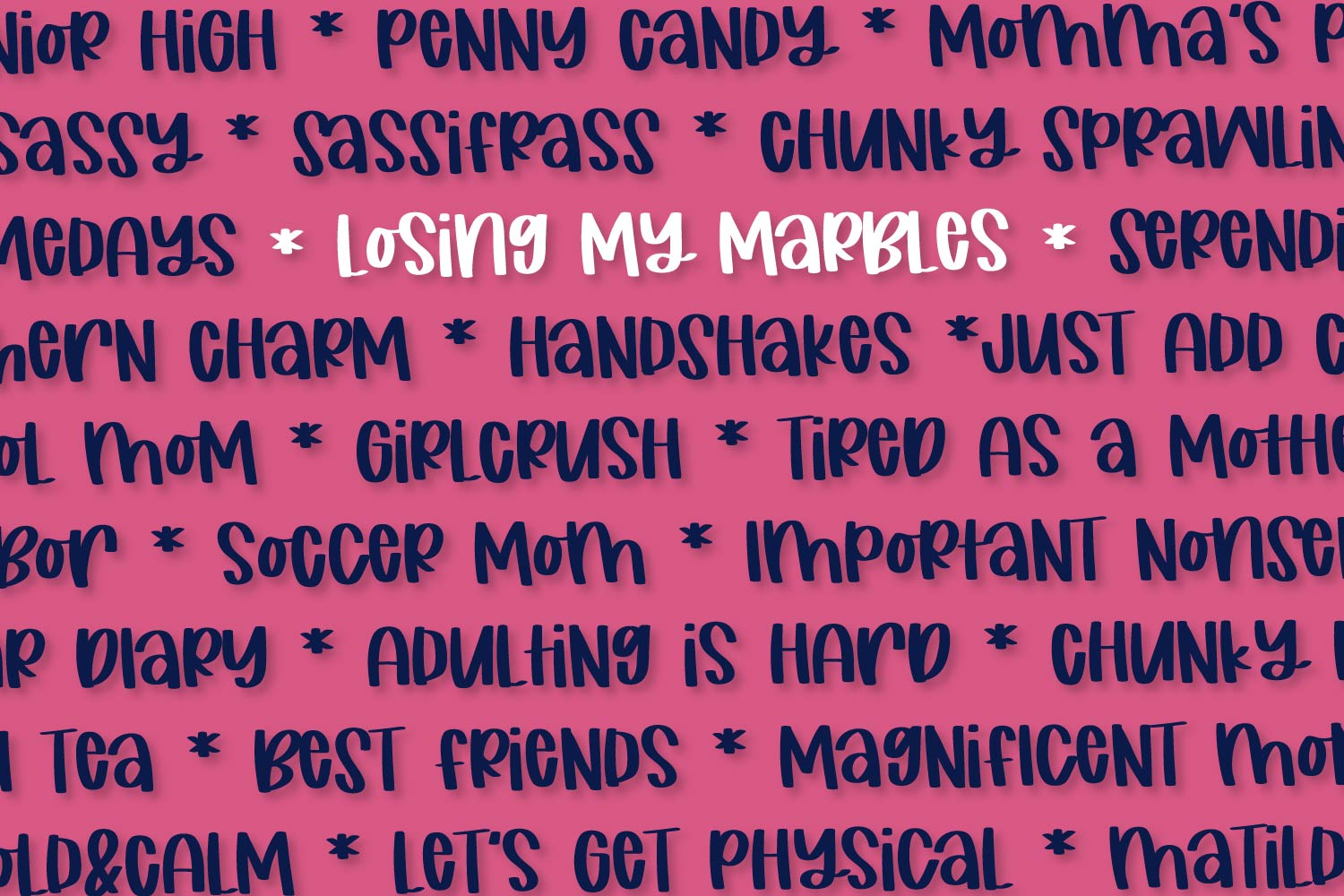 Losing My Marbles - A Cute Marker Font example image 7