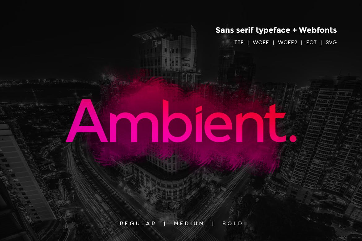 Ambient - Modern Typeface WebFonts example image 1