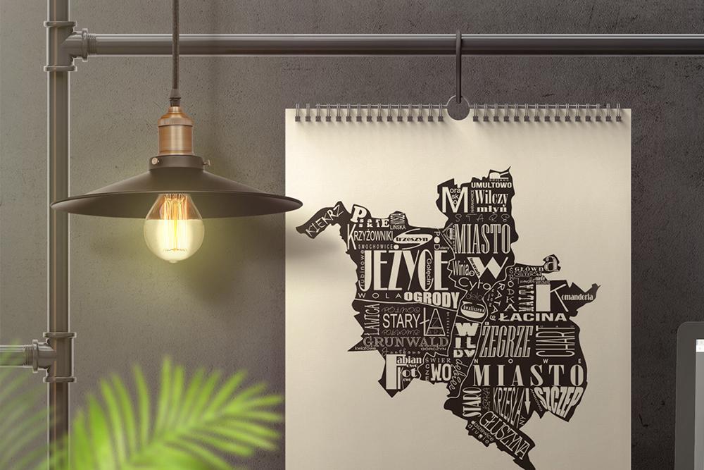 Wall Calendar In Loft Interior Mockup example image 3
