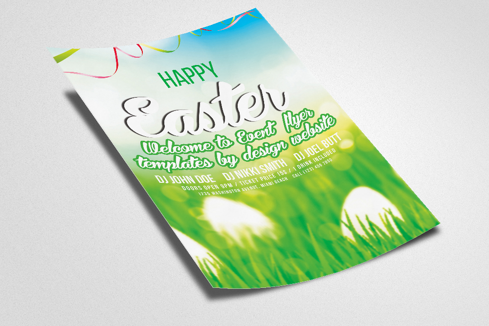 Easter Egg Hunt Flyer Print Template example image 2