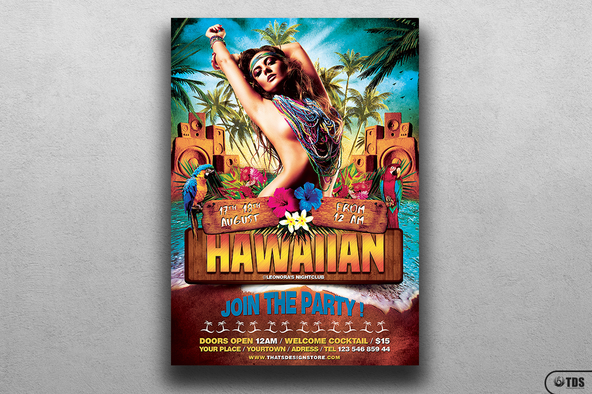 Beach Party Flyer Template V5 example image 2