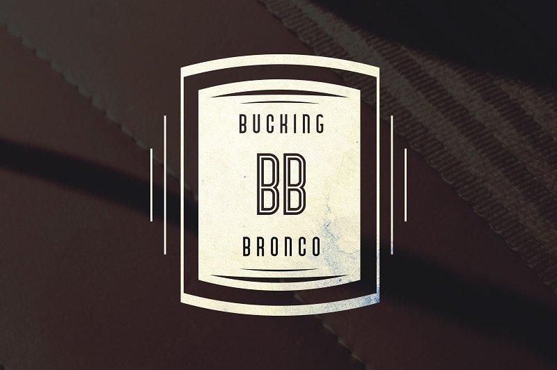 Bronco Typeface example image 3