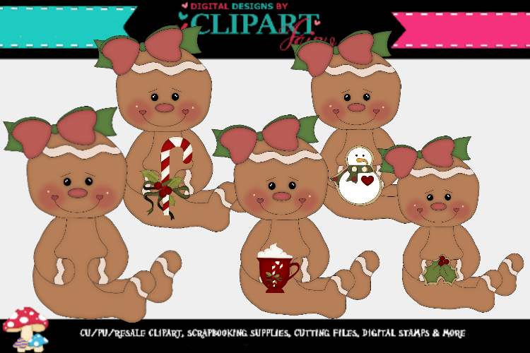 Christmas Gingy Girls 4 example image 1