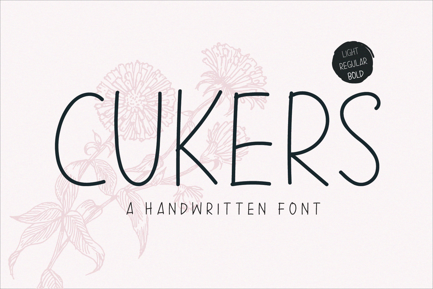 Cukers - A Handwritten Font example image 7