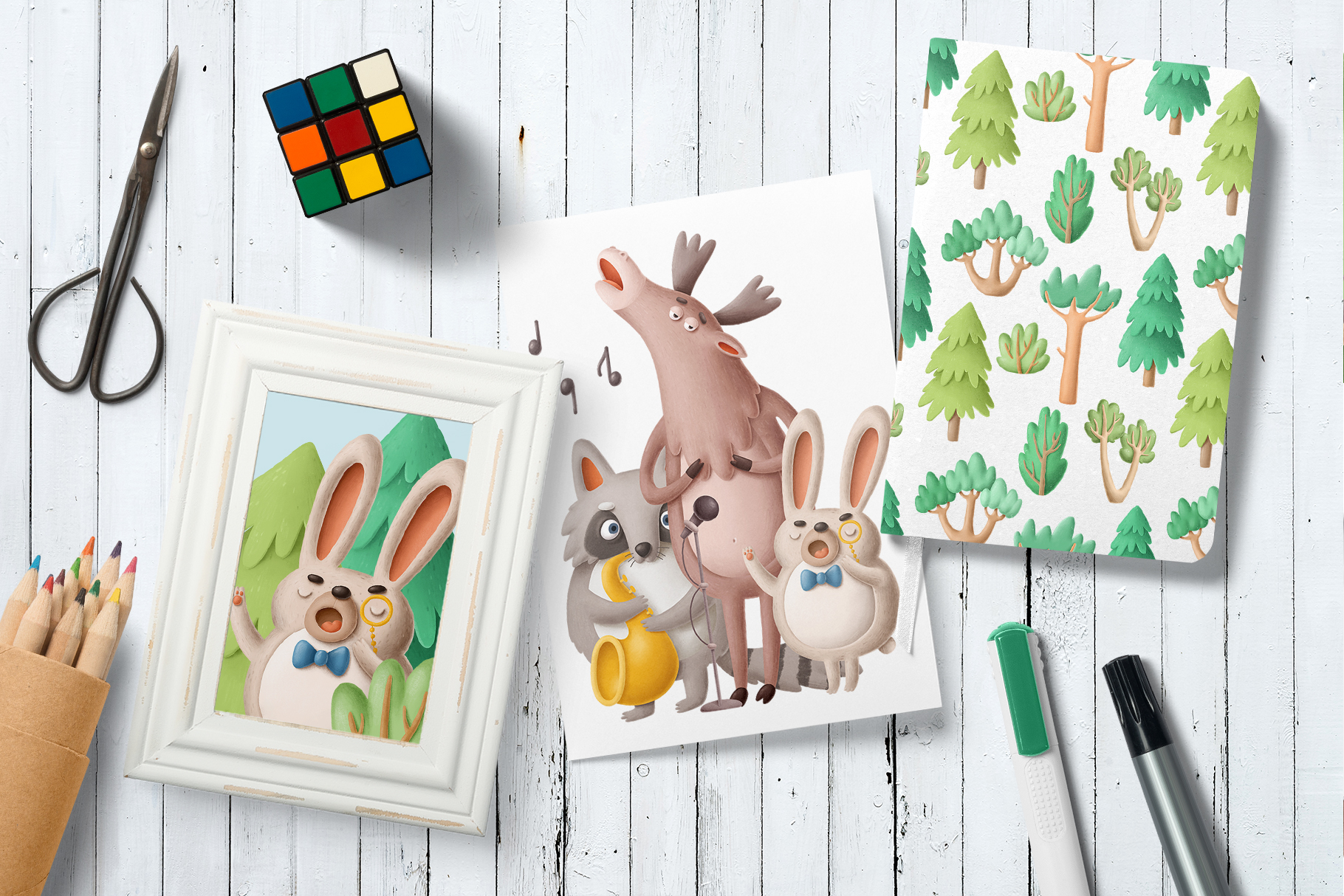 Collection of singing forest animals example image 4
