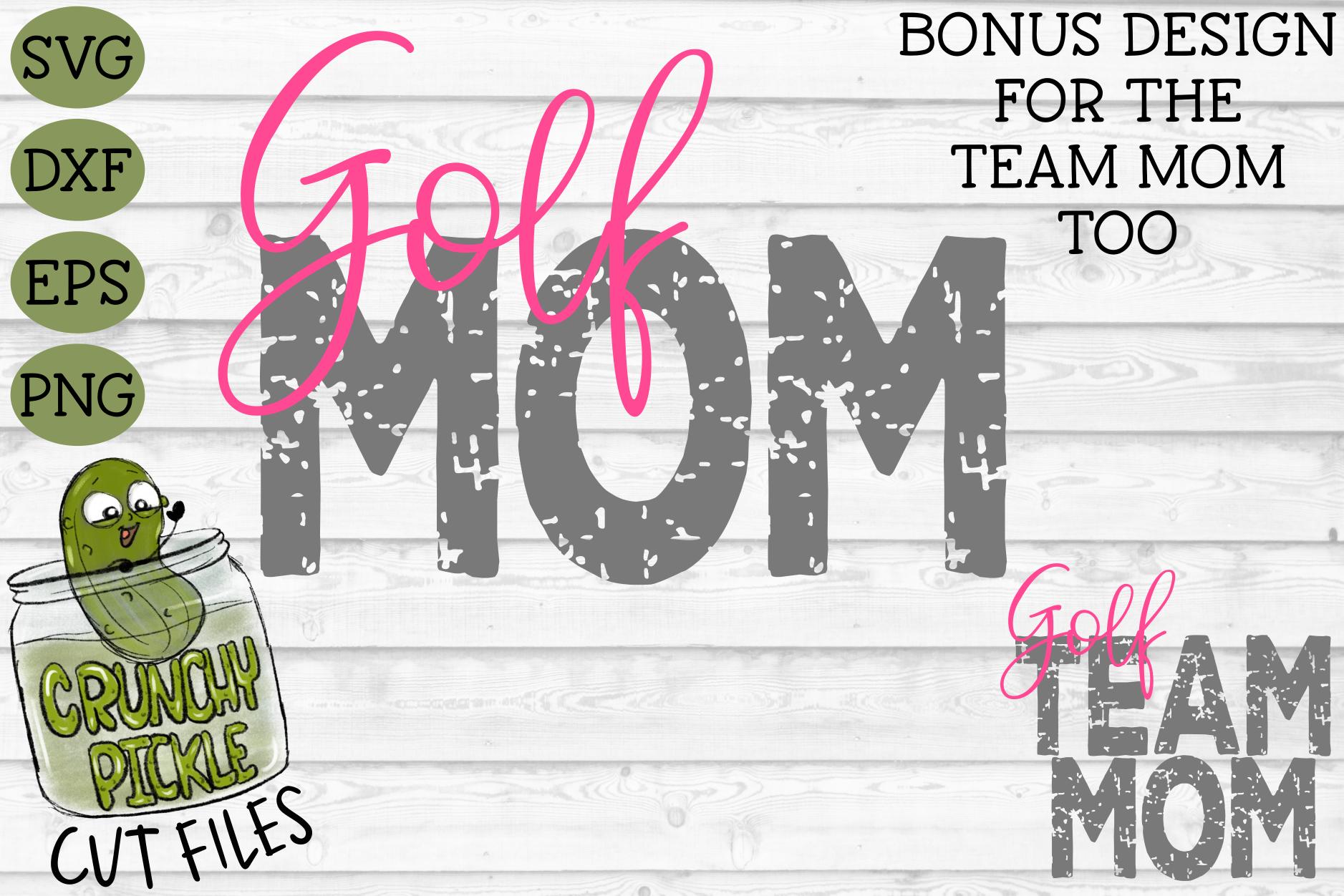 Golf Mom & Bonus Team Mom Sports SVG Cut File example image 2