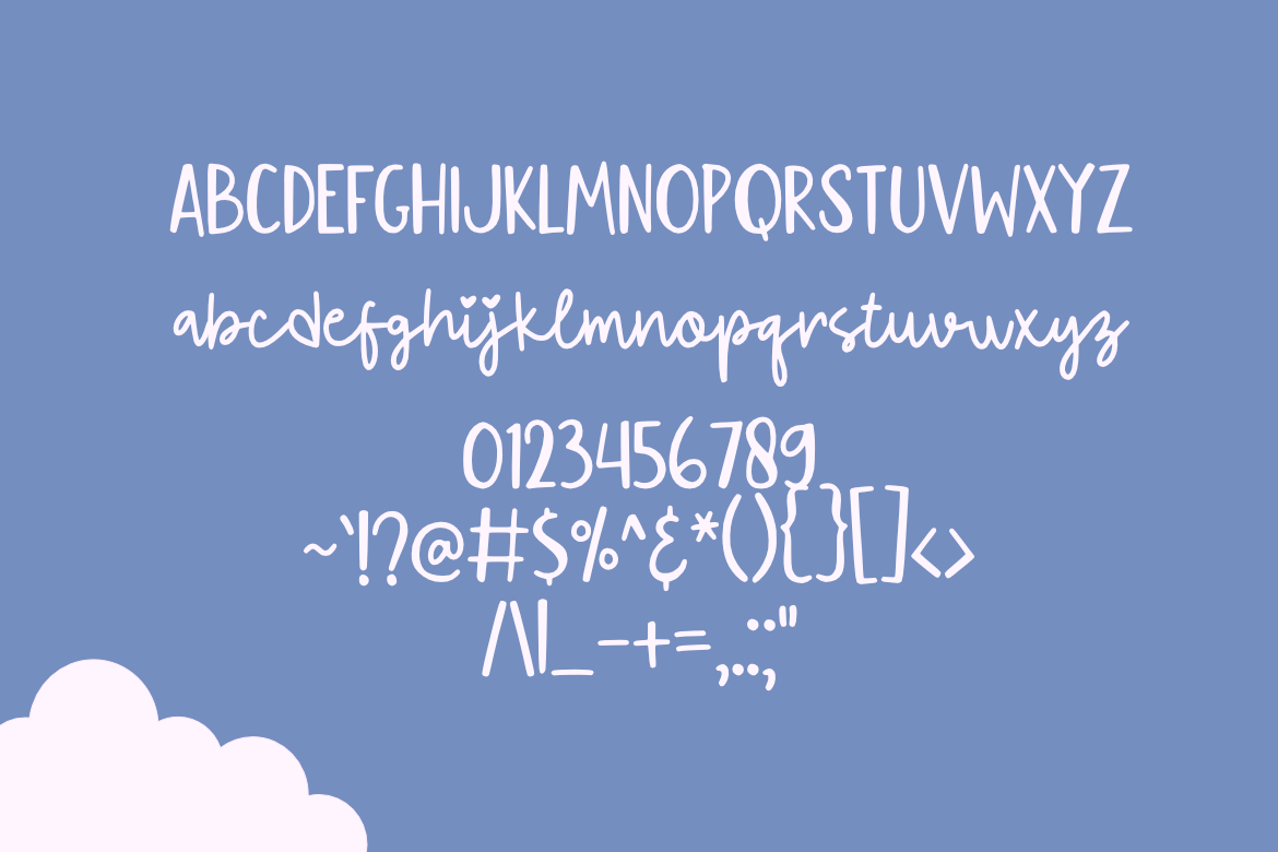 Flying Kite Font example image 2
