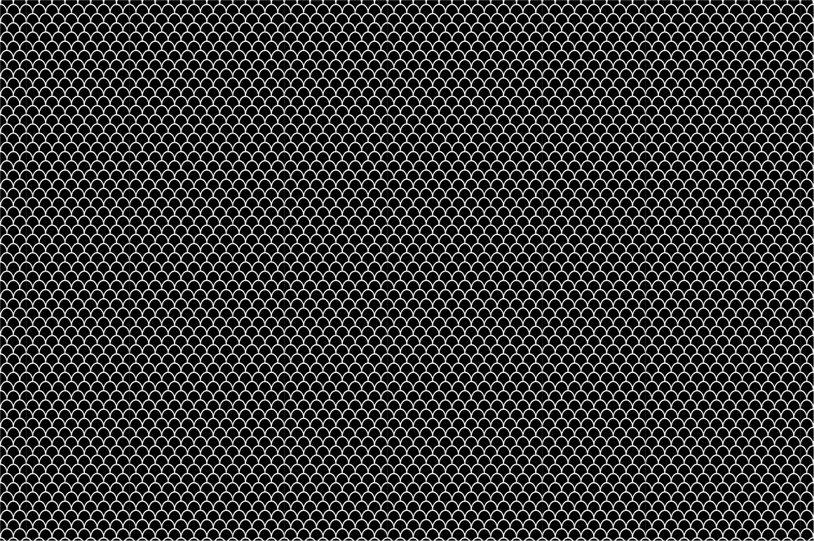 Collection of seamless patterns. B&W example image 4