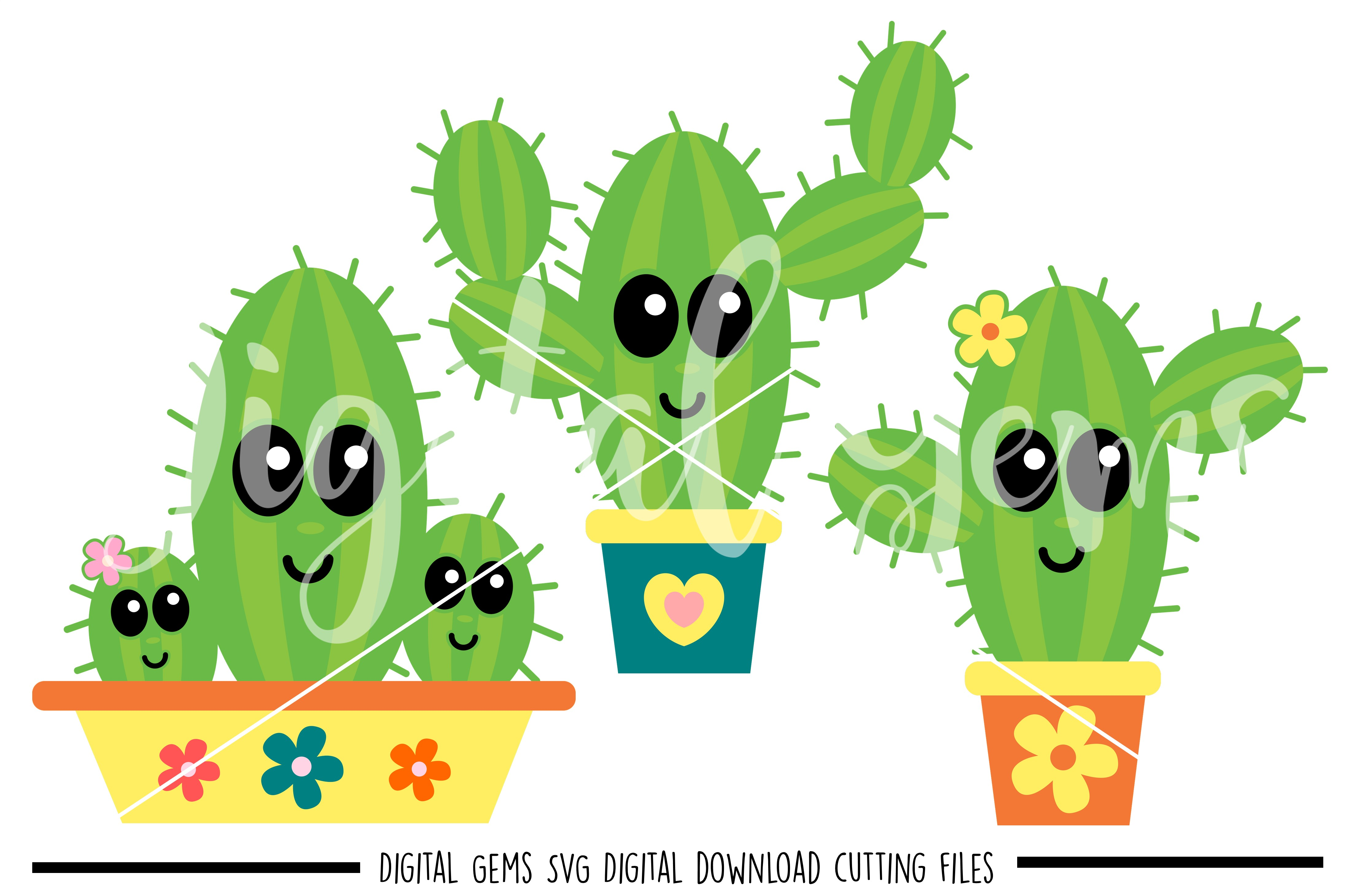 Cactus SVG / PNG / EPS / DXF Files example image 1