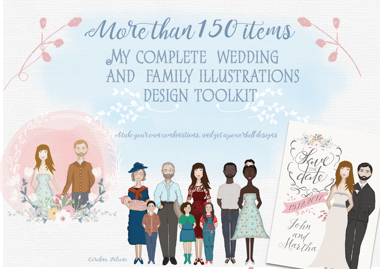 Set of Wedding and Family resources example image 1