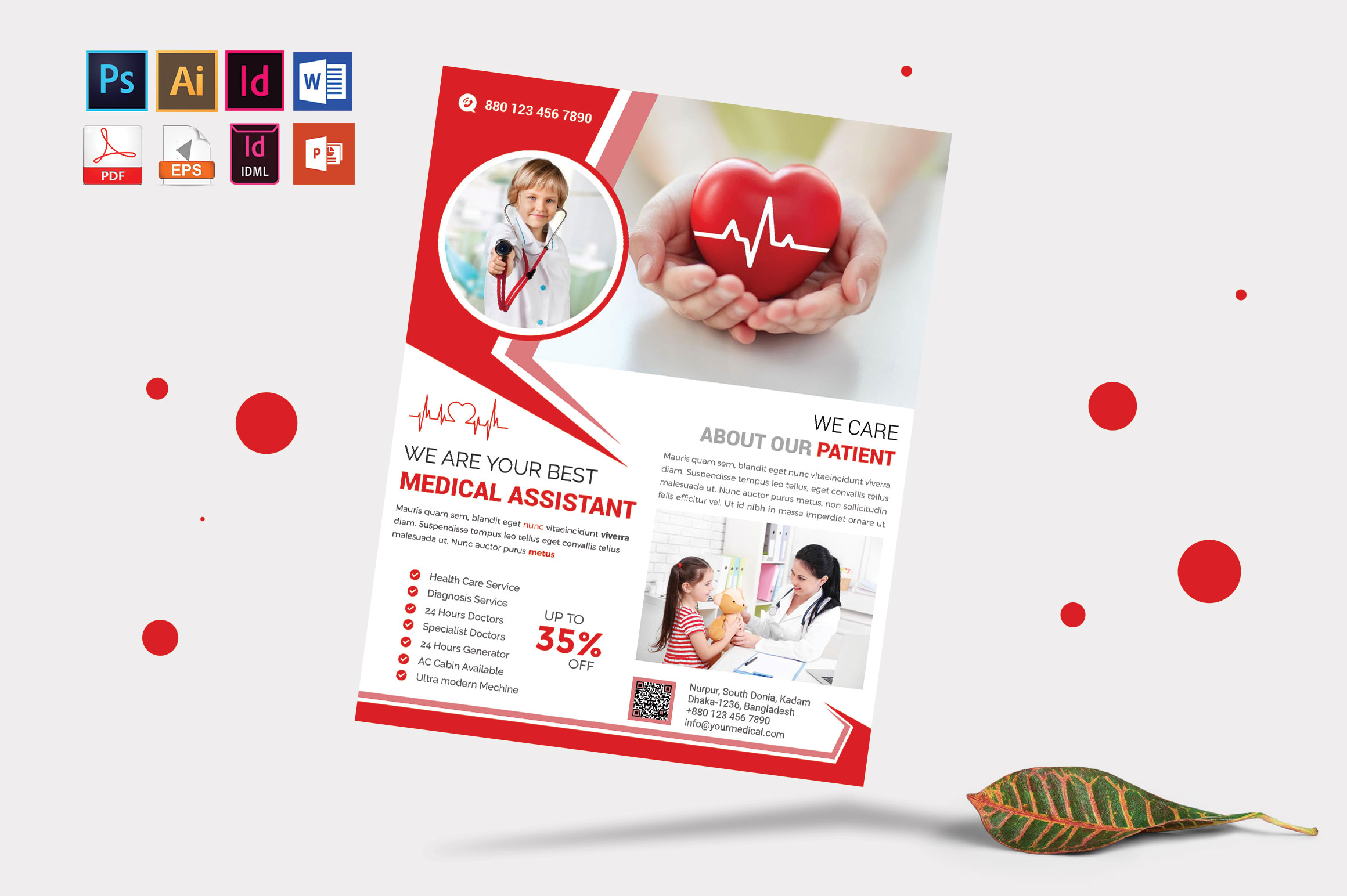 Doctor & Medical Flyer. Vol-09 example image 4