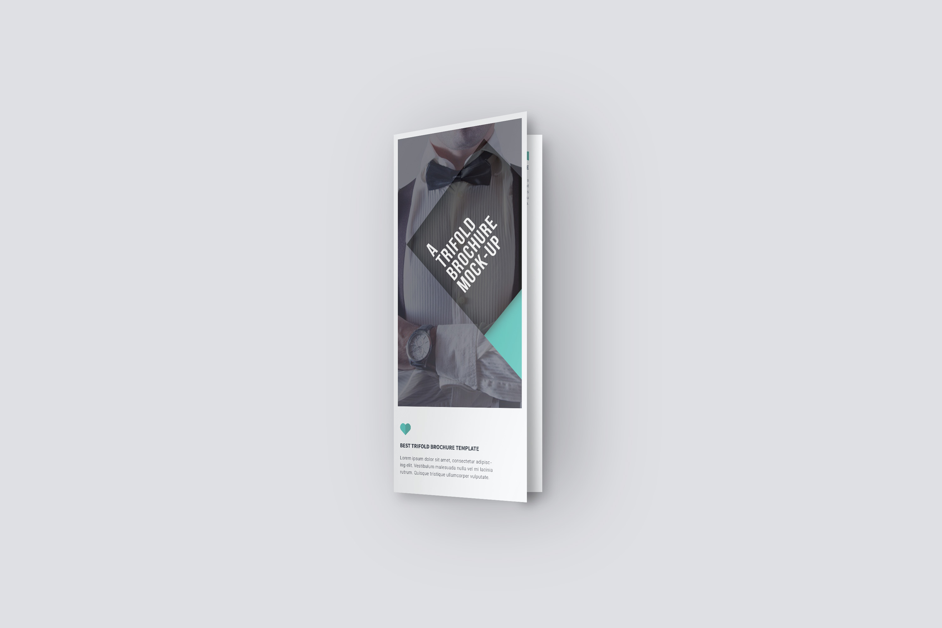 U.S. Letter Trifold Brochure Mock-Up in Hand example image 4