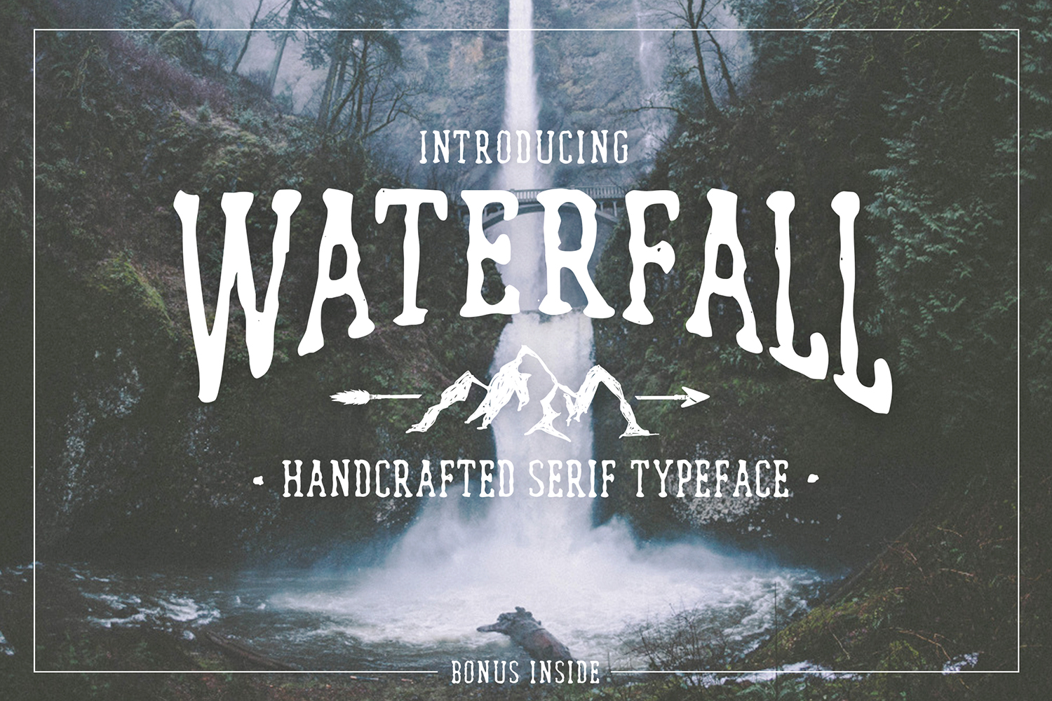 Waterfall. Handcrafted Font (+bonus) example image 1