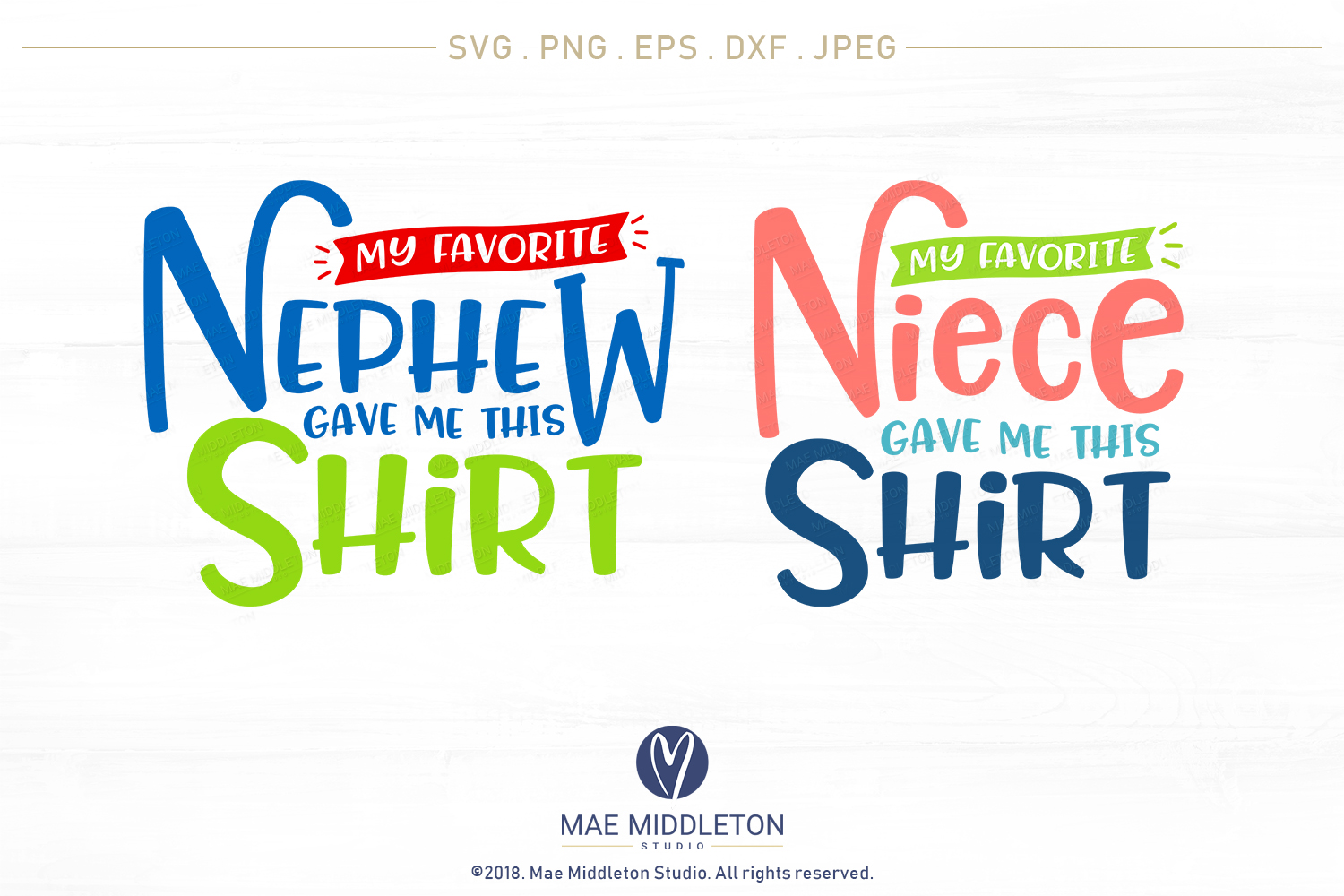 My Favorite... Gave Me This Shirt SVG Bundle example image 9