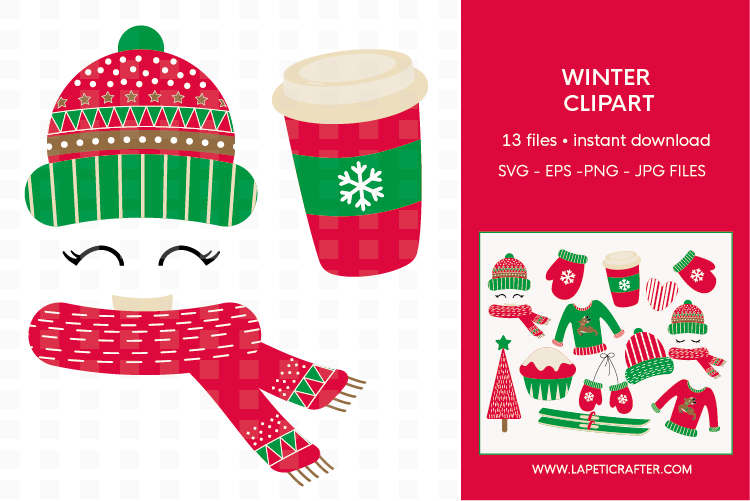 Winter Clipart, 13 instant download christmas vector example image 2