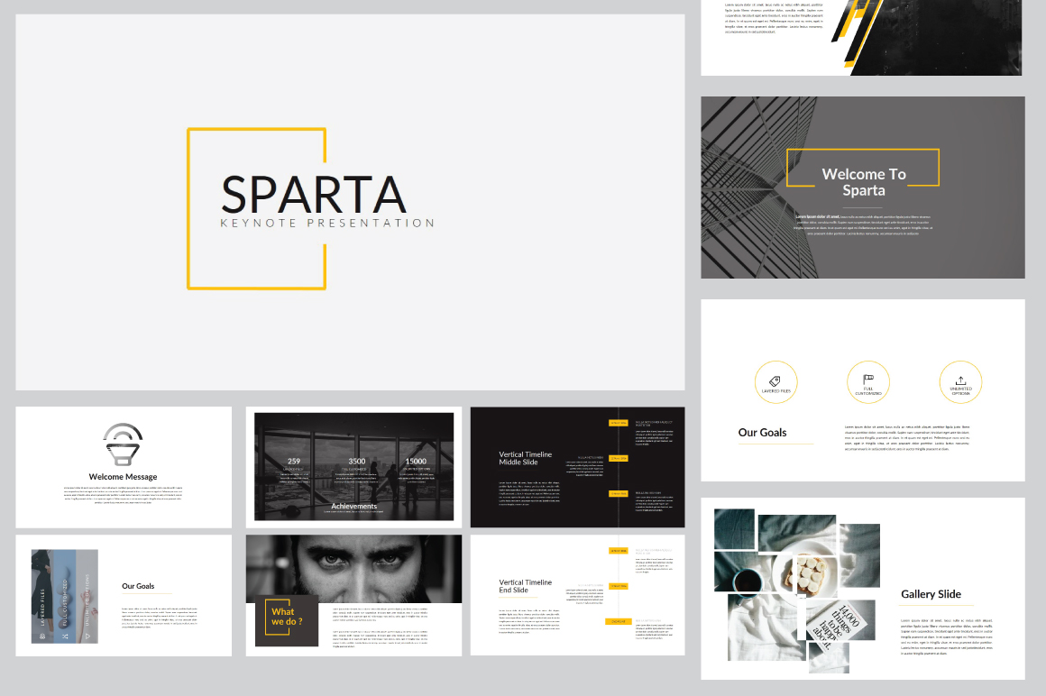 Sparta MNML Keynote Template example image 2