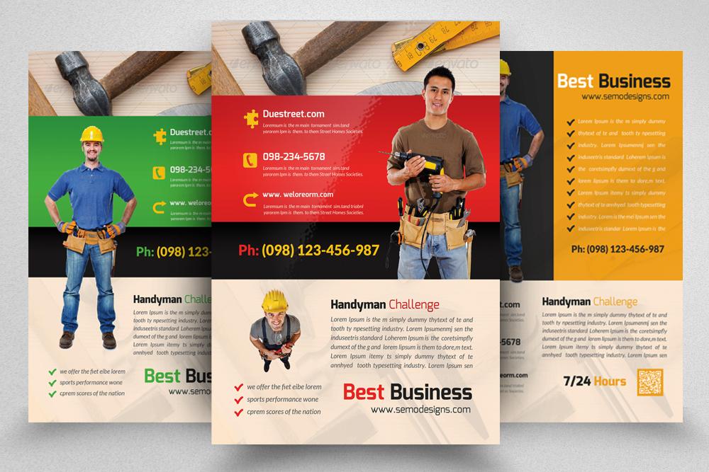 6 Handyman & Plumber Flyers Bundle example image 5