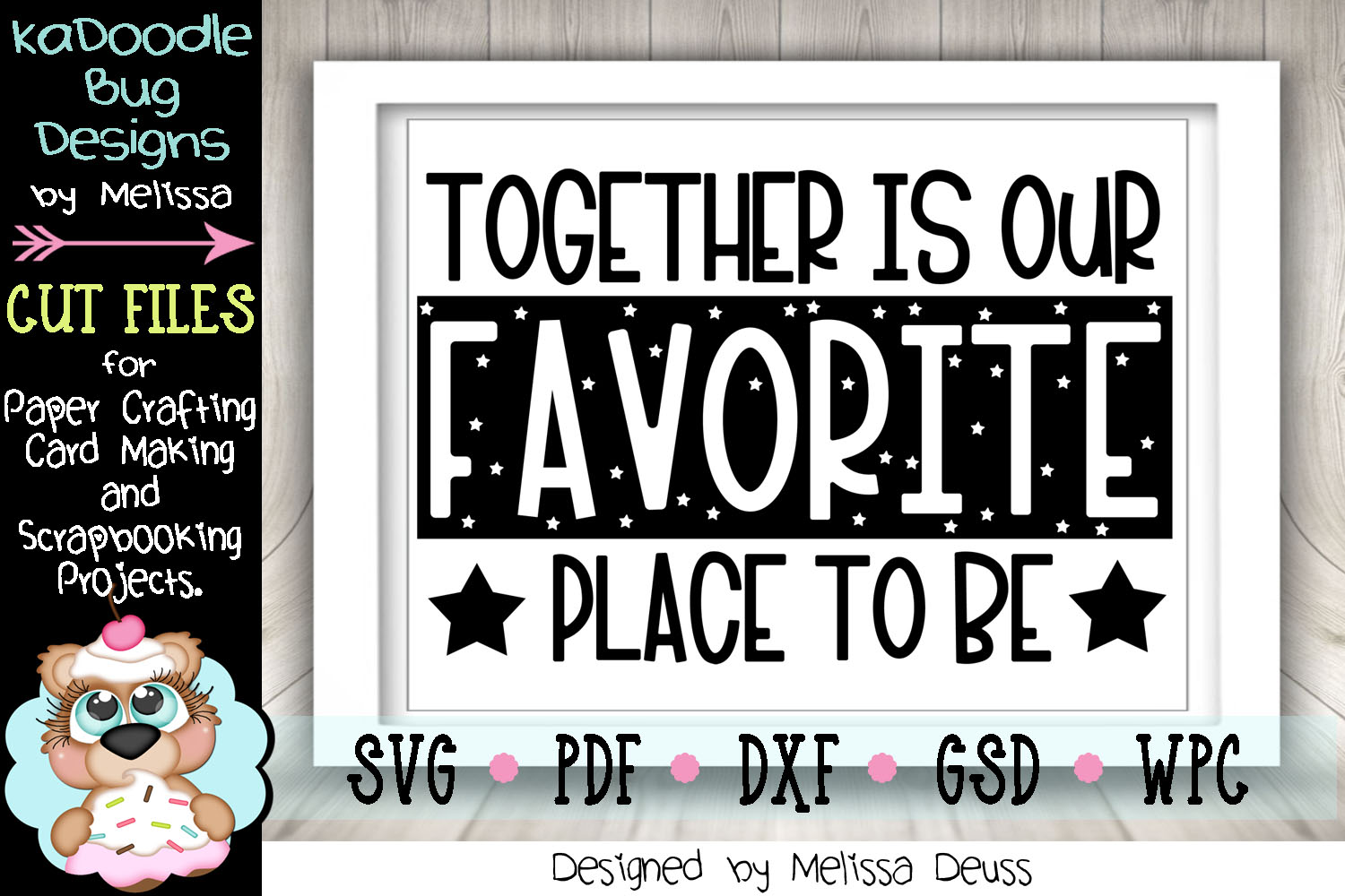 Together Is Our Favorite Place To Be Cut File - SVG PDF DXF example image 1