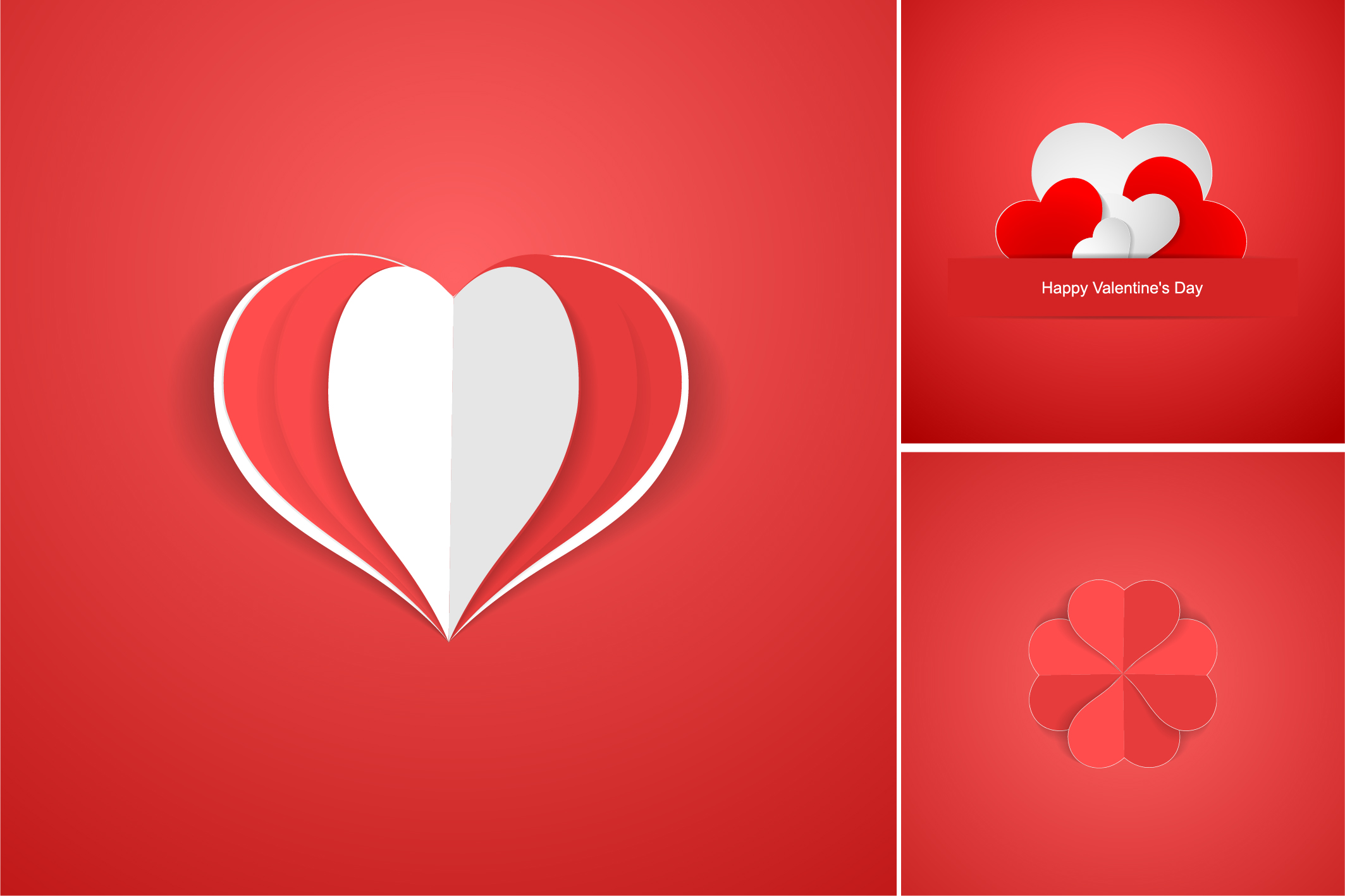 Red postcards with origami hearts. example image 9