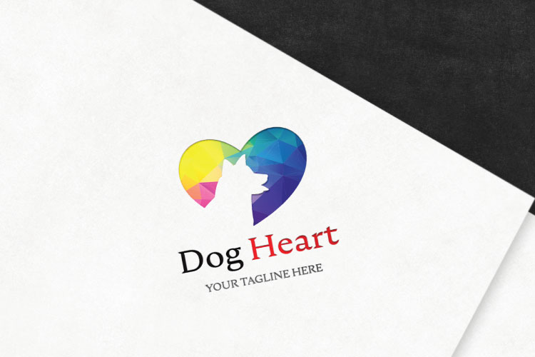 Dog in Heart Logo example image 4