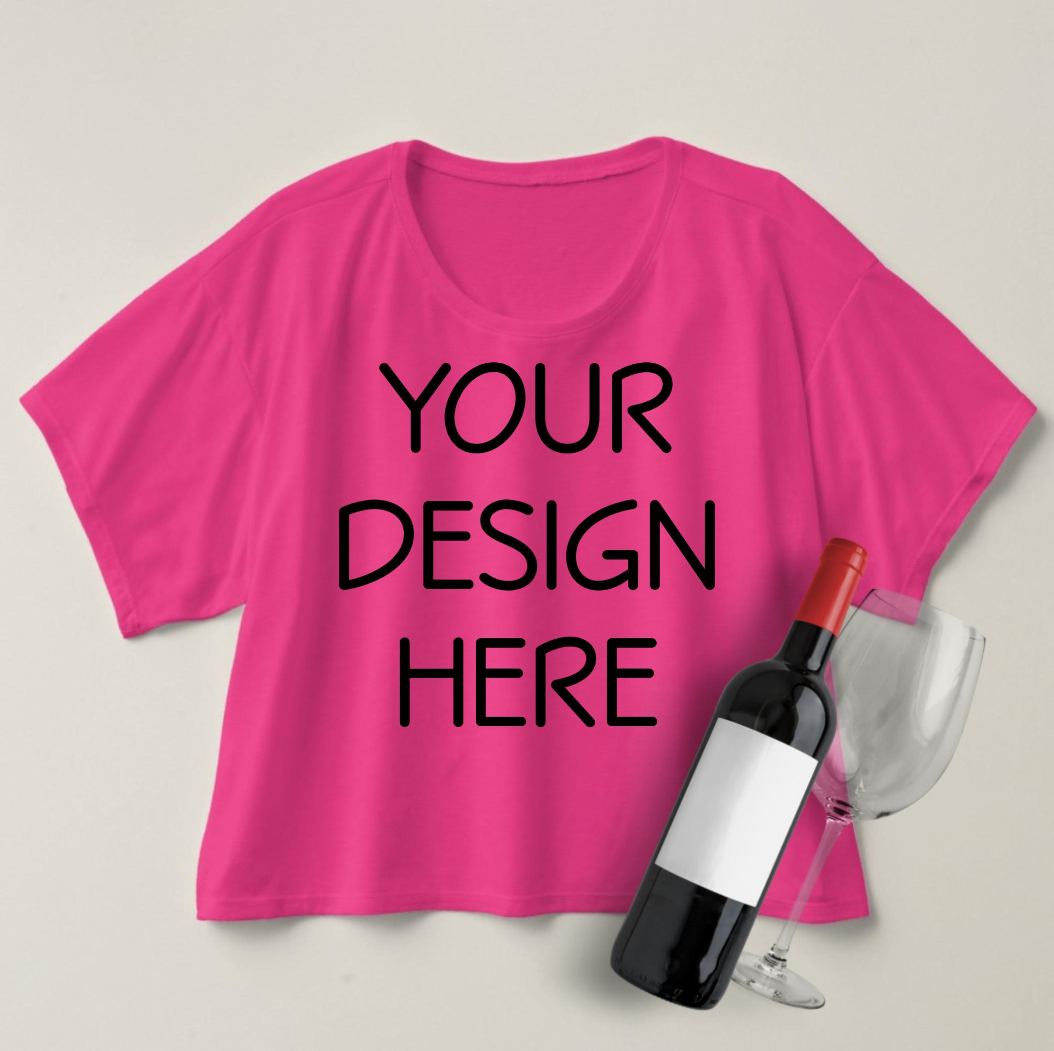 Boxy Crop Top T-shirt Mockups - 4 example image 3