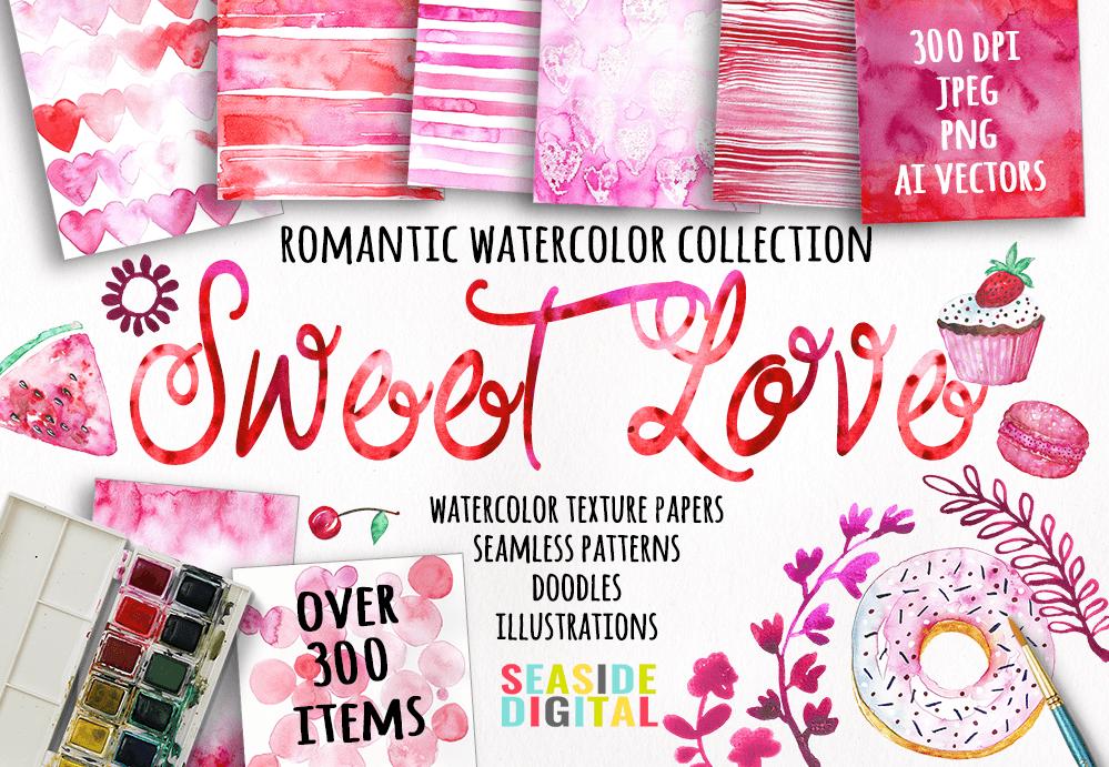 Valentine's Day Watercolor Giftbox example image 2