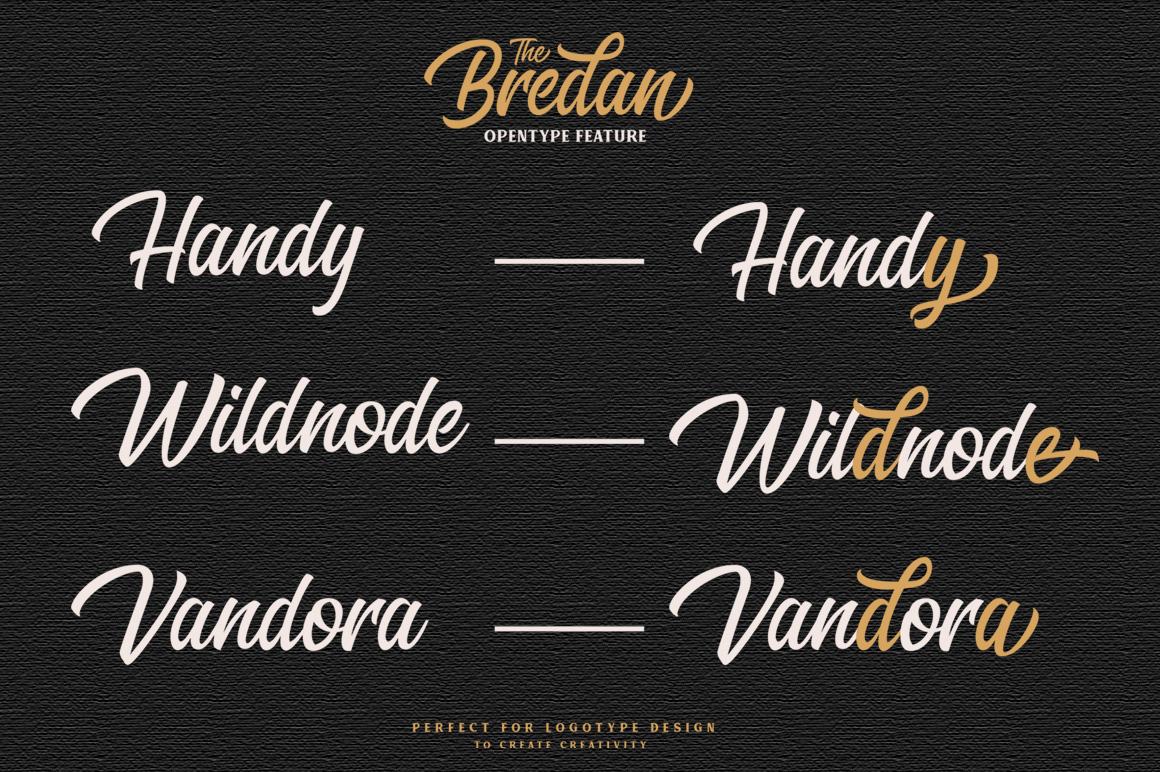 Bredan - Modern Vintage Script Font example image 8