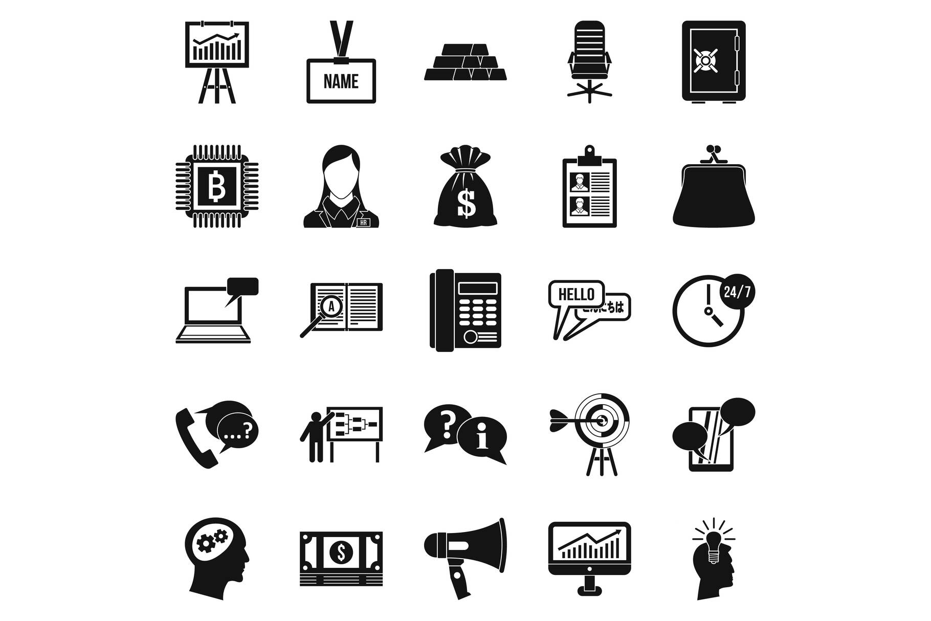 Blood money icons set, simple style example image 1