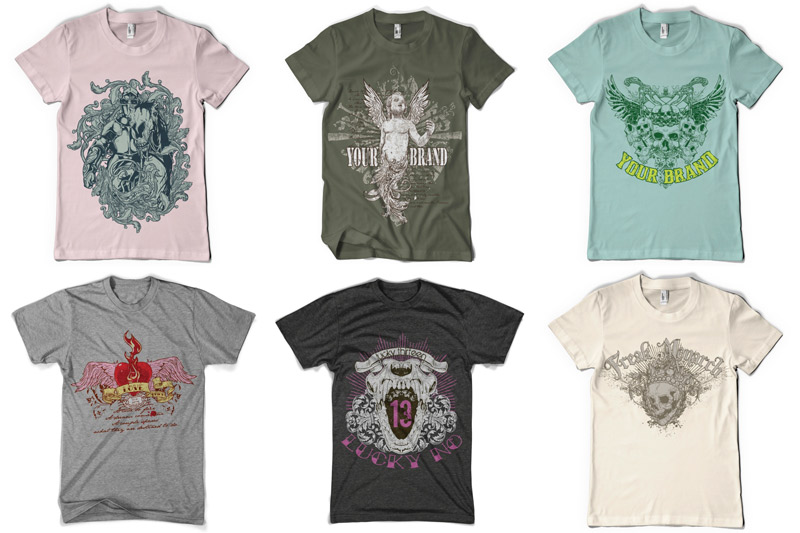 100 T-shirt Designs Vol 1 example image 10
