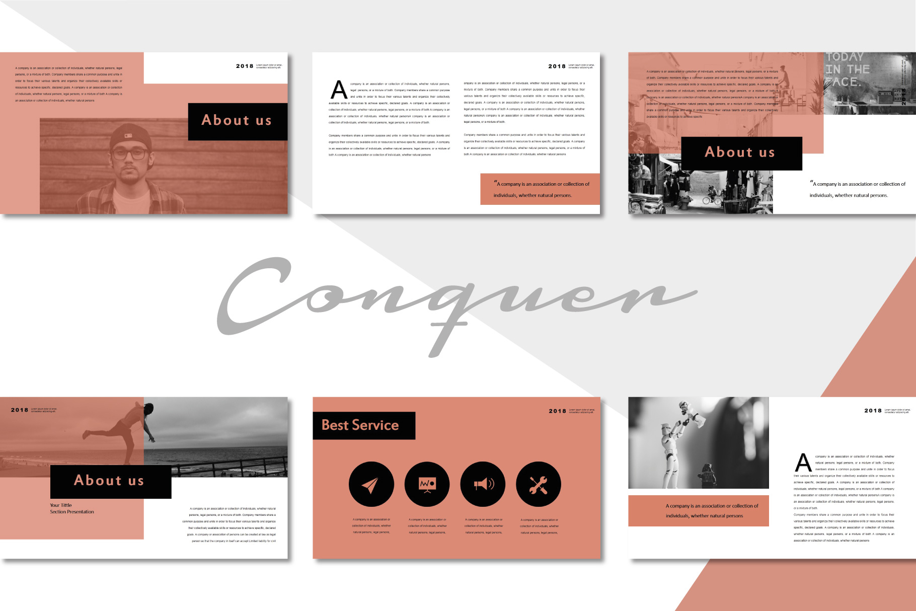 Conquer PowerPoint Templates example image 3