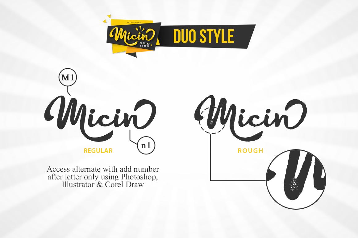 Micin Script example image 2